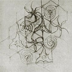 Gaudi's sketch of the Mila's tiles  One of the few sketches of these whirlpool tiles.
