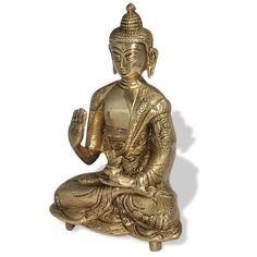 brass buddha statue, garden buddha statue