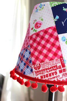 Little Girls Lampshade Pam Kitty Fabric by ScarlettsCozyCottage