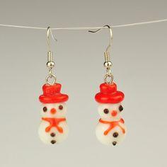 Fashion Handmade Lampwork Earrings, with Brass Earring Hooks
