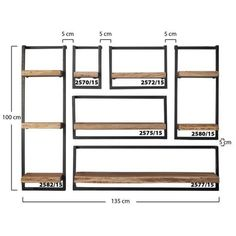 Wall shelf Jax 65 cm Solid Wood - Available from stock at Furnwise - Furnwise Steel Furniture, Home Decor Furniture, Diy Home Decor, Furniture Design, Room Decor, Urban Home Decor, Wall Shelf Decor, Wall Shelves Design, Wood Wall Shelf