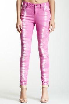 DKNY Jeans Hippy Trail Tie-Dye Rolled Jegging