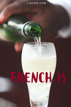 The French 72 is a Mardi Gras favorite in New Orleans. With the combination of Gin and champagne, this classic cocktail is both sour and sweet with a fruity flavor. Spring Cocktails, Classic Cocktails, Fun Cocktails, Fun Drinks, Beverages, Party Drinks, Gin Drink Recipes, Best Cocktail Recipes, Cocktail Ideas