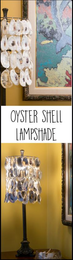 Use discarded oyster shells and an upcycled lampshade to create a stunning oyster shell lampshade for your home decor. This easy DIY adds instant coastal charm.