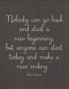 What will your new ending look like?