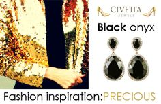 #Fashion inspiration: precious! Black Onyx Dainty #Earrings  Available in our web-store: http://www.civettajewels.it/store/en/home/164--black-onyx-silver-earrings-airoldi-.html  #Jewelry #MadeInItaly #Accessory #Ss2014