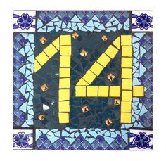 Huisnummers - mozaiek, huisnummer - Een uniek product van Stichting-Creade-2016 op DaWanda