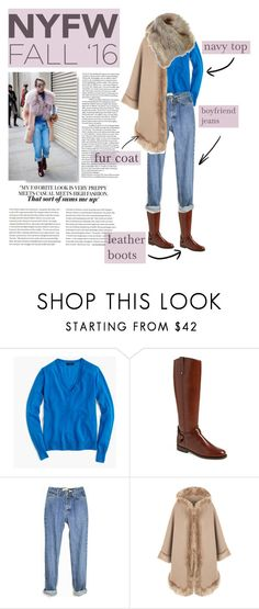 """""""new york fashion week"""" by kittycatcorner on Polyvore featuring J.Crew, Tory Burch, WearAll, women's clothing, women, female, woman, misses, juniors and NYFW"""