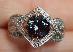 New 10K S7 8 2 5ct Alexandrite Diamond Engagement Ring White Gold Color Change | eBay