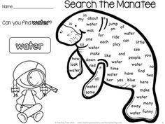 Preschool manatee craft for Earth week and clean water