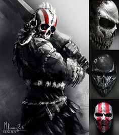 You may remember our cool Tribal Warrior Concept... ( design by butteredbap.deviantart.com/ ) Many of you asked us for such a cool mask and well... now I just found someone who could help you!...