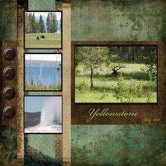 yellowstone scrapbook layout | Yellowstone-Layout
