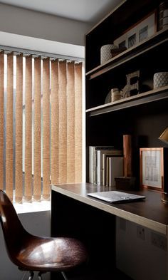 Copper tones in metallic and matt finishes bring a hint of subtle colour into a darkly decorated. Add it in with small accessories and interesting furniture, made to measure Kelis Copper Vertical blind is a great addition!