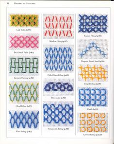 Ribbon Embroidery For Beginners cross stitch embroidery, technical Embroidery Sampler, Hand Embroidery Stitches, Silk Ribbon Embroidery, Diy Embroidery, Cross Stitch Embroidery, Cross Stitch Patterns, Embroidery For Beginners, Embroidery Techniques, Plastic Canvas Stitches