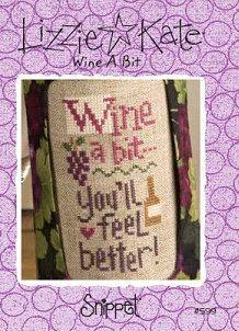 Wine A Bit Counted Cross Stitch Chart Pattern Lizzie Kate