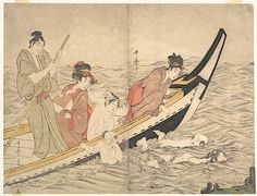 Kitagawa Utamaro (Japanese, 1753?–1806). Boating Party with Children Swimming, late 18th century. Japan. The Metropolitan Museum of Art, New York. H. O. Havemeyer Collection, Bequest of Mrs. H. O. Havemeyer, 1929 (JP1684)