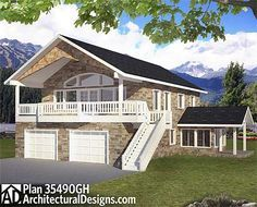 Flexible House Plan For Many Uses - 35490GH | Carriage, Mountain, Vacation, Metric, 1st Floor Master Suite, CAD Available, Den-Office-Library-Study, PDF | Architectural Designs