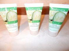 3 Avon Naturals Antibacterial Hand Gel Restoring Cucumber Melon 2.5 Fl Oz Wash #Avon
