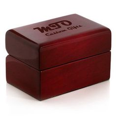 Custom Engraved Cherry Bridal Set Ring Box - Wood - Cherry with White Leather Interior - Use Your Own Design or We can Make one for you no extra charge.