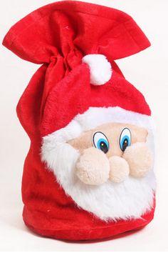Gift bag Christmas gift bag pleuche old man's face