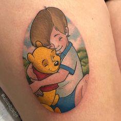 Uplifting Winnie the Pooh Tattoos Winnie The Pooh Tattoos, Piglet Winnie The Pooh, Winnie The Pooh Honey, Winnie The Pooh Friends, Pooh Bear, Tattoo On, First Tattoo, Cartoon Design, Cartoon Styles