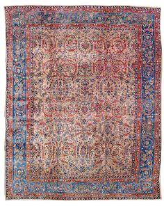 Lot 66, 'American' Sarouk, West Persia, circa 1920/30. 356 x 274 cm. Estimate 2,000 EUR and hammerprice 4,500 EUR