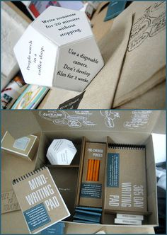 I WANT THIS IN MY LIFE. A Kit to Thwart Writer's Block. I may not be a writer but this looks amazing nonetheless