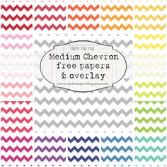 Ultimate Resource for Digital Paper - She has them ALL! BRIGHT Chevron papers (with a tight zig zag but spaced)