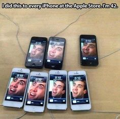 If anyone asks what happened, just say the ghost of Steve Jobs did it. -  #apple, #trolling, #pranks, #fails