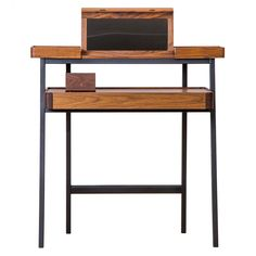 756 Tray Desk Walnut 756 Tray Desk Walnut £3,200.00 95cm (w) x 94.5cm (h) x  47.5cm (d) CONRANS: From award-winning Shanghai-based design collaborative, neri&hu. Two stacking trays in rich American walnut wood with a Danish oil finish on a light frame, the desk provides a vanity table, a workspace and storage drawers, all in one. Features include a folding mirror that adjusts to three angles and collectable box, stylishly lined with red leather.