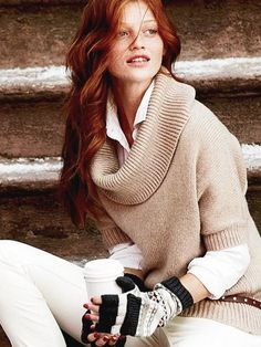 Like this look cowl neck sweater