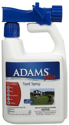 Adams Plus Yard Spray comes with our 100% Satisfaction Guarantee! Kills & repels: fleas, ticks, mosquitoes, ants, crickets & other listed insects. Treats up to 5,000