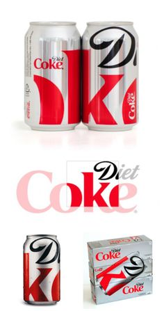 Diet Coke's clever typography