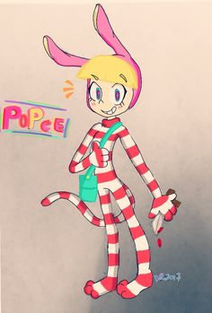 Popee The Performer digital drawing made by me ^^