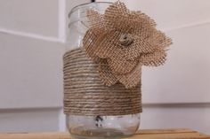 wrapped twine and burlap bow