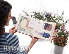 Keep a scrapbook of plant data - Store plant tags and sticks inside a cheap photo album. You can add details such as when and where the plants were purchased, special care or even the plant's location on a sketch of your yard.