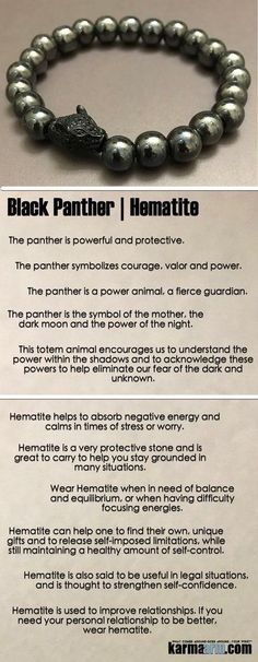 Black Panther Jewelry | Yoga Bracelets | Reiki Healing | Meditation Mala | Mens Jewelry ❤️ #Black #Panther encourages us to understand the power within & to acknowledge these powers to help eliminate our fear of the dark and unknown. #BlackPanther #reik