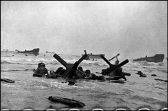 On June 6, 1944, Allied forces, led by the U.S., stormed a 50-mile stretch of beach in Normandy, France. Despite the onslaught of German defense from the cliffs, the Allied powers were able to overtake the beach, ultimately leading to a German surrender of Normandy, and providing an essential victory on the mission to defeat Hitler. www.magnumphotos.com