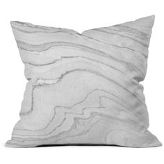 """Deny Marble Print Decorative Pillow, 16"""" x 16"""" (454.940 IDR) ❤ liked on Polyvore featuring home, home decor, throw pillows, gray multi, gray throw pillows, grey throw pillows, deny designs, grey home decor and polyester throw pillows"""