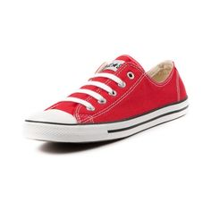 Shop for Womens Converse All Star Dainty Athletic Shoe in Red at Journeys Shoes. Shop today for the hottest brands in mens shoes and womens shoes at Journeys.com.The classic Converse All Star Lo just got a makeover! Now with a lower, more feminine profile, Converse presents the All Star Dainty five eyelet lace-up for a subtle lady-like charm. Durable canvas upper and cushioned midsole with the signature All Star rubber toe box and vulcanized outsole for that timeless Chuck Taylor style.