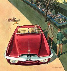 1954 Dodge Firearrow Concept Car illustrated by Leslie Saalburg