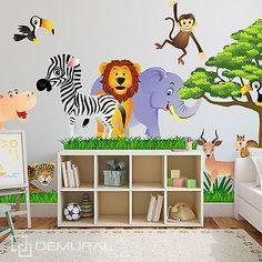 Superb Details zu Wandtattoo F rs Kinderzimmer Baby Sticker Aufklebr Tiere Safari SDB