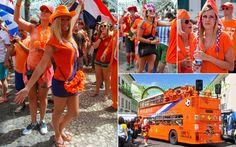 13/6 - Holandesas embelezam a concentração de torcedores estrangeiros no Terreiro de Jesus, no centro histórico de Salvador (BA). Os torcedo...