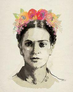 Resultado de imagen para frida kahlo estampa