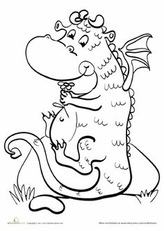 This Series Of Zany Coloring Pages Features A Bunch Cool And Silly Dragons