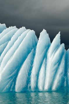 Extreme Ice [looks like giant feathers] ~ (via 500px / Jokulsarlon by Milko Marchetti)
