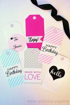 Gift Tags - Free Printable @annaandbluepaperie Dress up gifts for b Rho Gammas