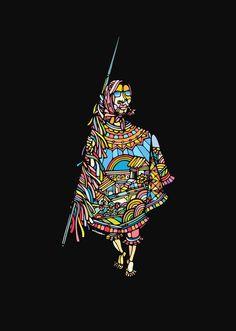 Ninhol é um artista pernambucano que retrata suas origens com muita cor e criatividade!