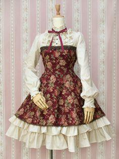 Victorian Maiden / One Piece / Antique Rose Doll Dress