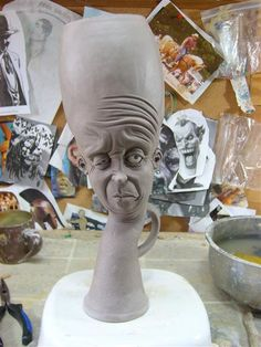 """Check out this site! Ugly jugs and inspiration galore by artist Kevin """"Turkey"""" Merck! WOW!"""